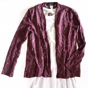 burgundy lace sweater