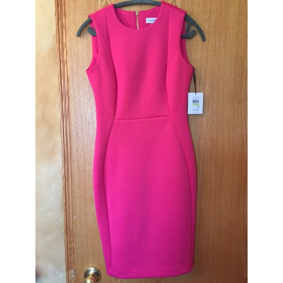 f662ac14f6ea Calvin Klein bright pink dress