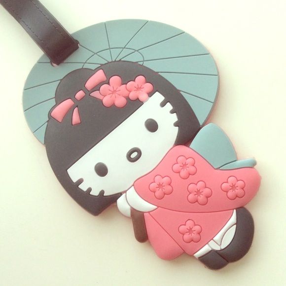 c24b089cff97 Hello Kitty Handbags - HELLO KITTY Kawaii Sakura Kitty Bag Luggage Tag