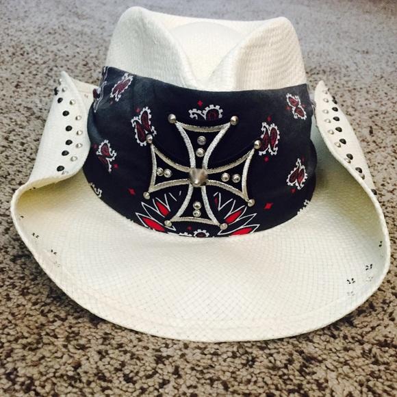 af587bba644 Bret Michaels styled cowboy hat