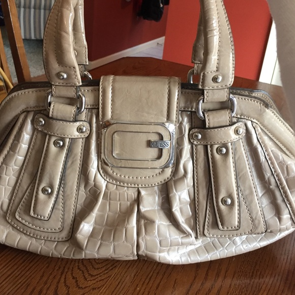 Guess Bags | Cream Colored Purse | Poshmark