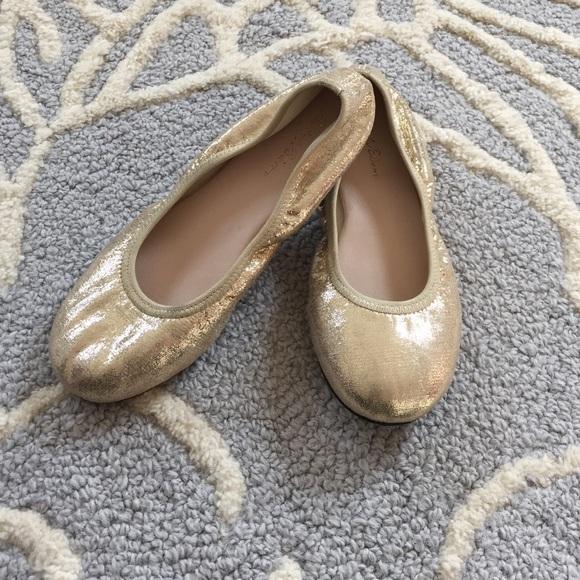 Little Girls Gold Ballet Flats