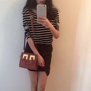 brown/tan metal small shoulder bag
