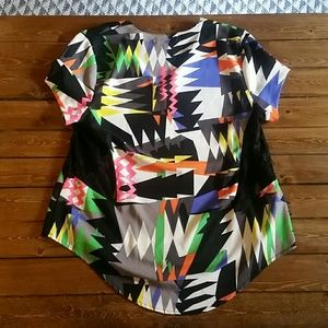 Tops - Multicolored short sleeve blouse