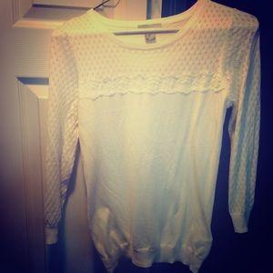 NWOT Cream very lightweight sweater XS