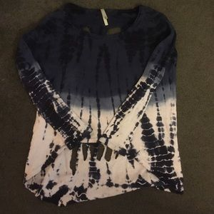 Tie-Dye Pullover with Skull Back Cutout
