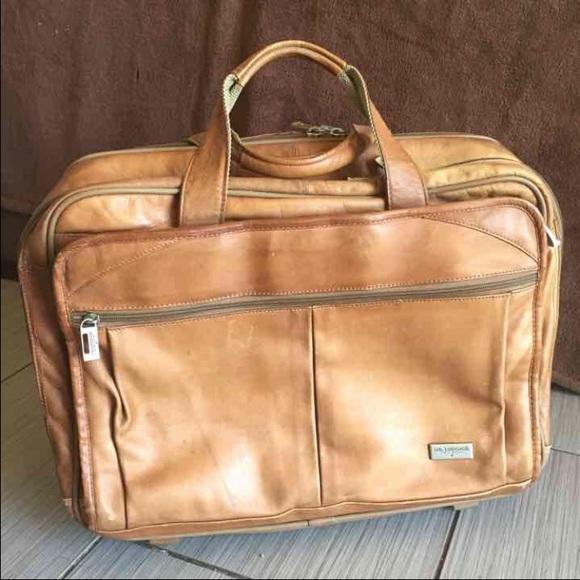 1e9dd98c3e1 Colombian Leather Rolling Briefcase Mobile Office.  M 56f990d0a88e7d3128001c61