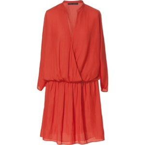 Zara basic silky dress