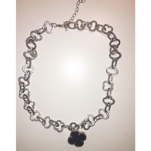 Black Clover Necklace. All Silver