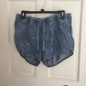 Flowy Denim Shorts
