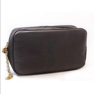 ysl yves saint laurent poliester clutch purse makeap evening bag parfum