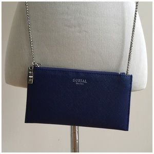 Sorial Sapphire Saffiano Wallet NWT