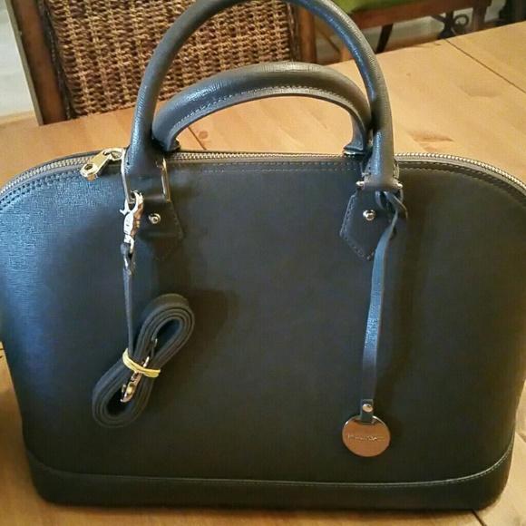 62868f17ad Gray metallic pulicati leather satchel. M 56f9a6a29c6fcf46bb004525