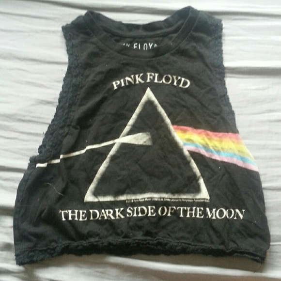 d39ab53a Forever 21 Tops | Pink Floyd Dark Side Of The Moon Lace Muscle Tee ...
