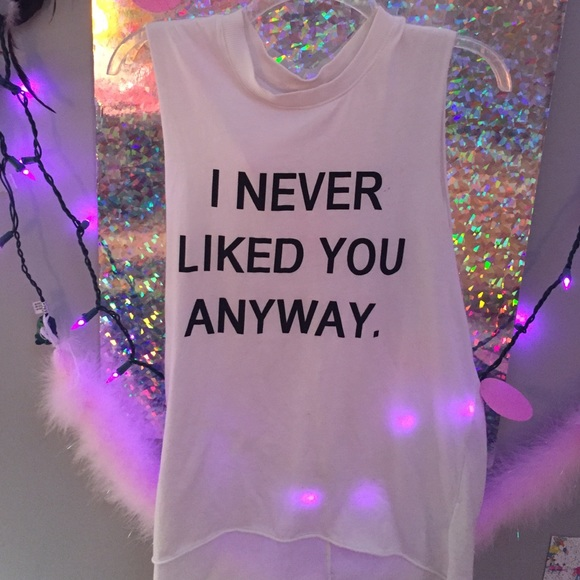 Hm Tops Hm I Never Liked You Anyway Muscle Tee Poshmark