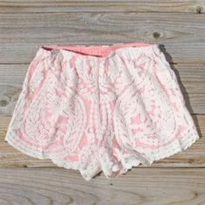Spool 72 Pants - Coral Lace Shorts by spool.72