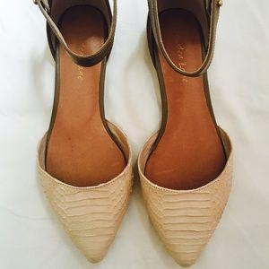 Cream Flat Sandals
