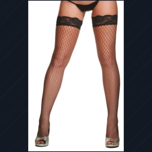 ff863ba4cacc3 Accessories | Black Fishnet Thighhighs Nwts | Poshmark