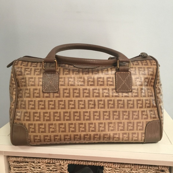 7d57e60f86de1 FENDI Handbags - AUTHENTIC FENDI ZUCCA COATED CANVAS BOSTON SPEEDY