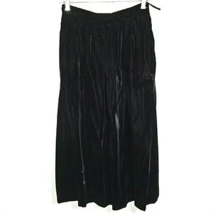 Vtg crushed velvet swing skirt