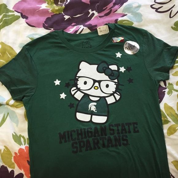 6b0ddb471 Hello Kitty Tops | Brand New Michigan State University | Poshmark