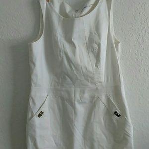 Calvin Klein White Dress with Pockets