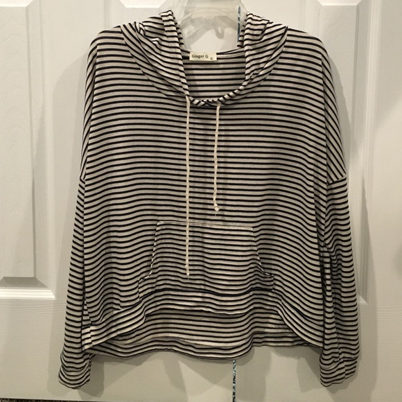 50% off Sweaters - Navy blue and white striped sweater from ...