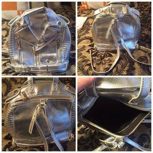 Aimee kestenberg metallic silver backpack!