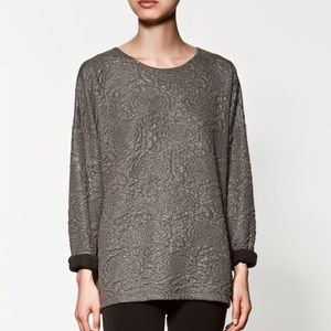 Zara Sweaters - Zara Laminated metallic top