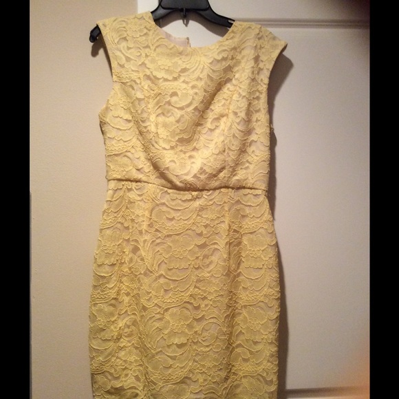 Luxology Dresses Lace Canary Yellow Dress Poshmark
