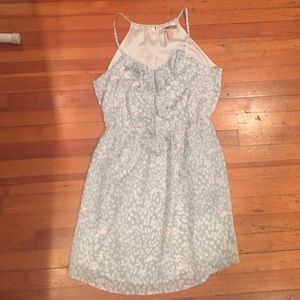 Forever 21 Blue-White Spotted Dress