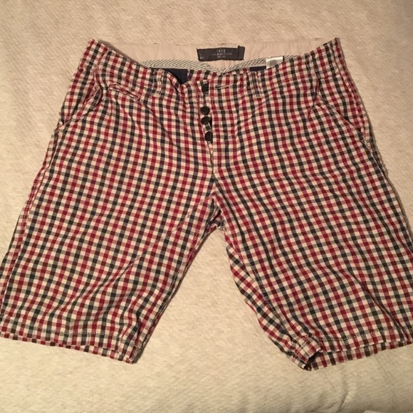 70% off H&M Other - Men's Blue and red Checkered shorts from Sam's ...