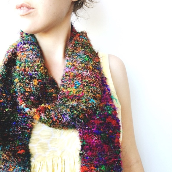 Anthropologie Accessories Moving Sale Recycled Sari Silk Crochet