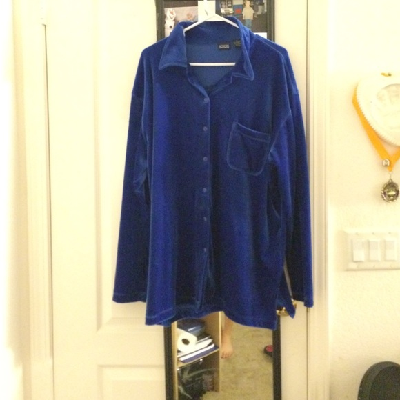 Honors Royal Blue Button Up Shirt W Pocket From Brooklyn