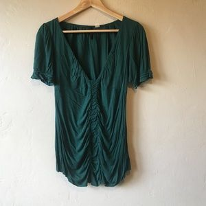 Emerald green blouse by Lux