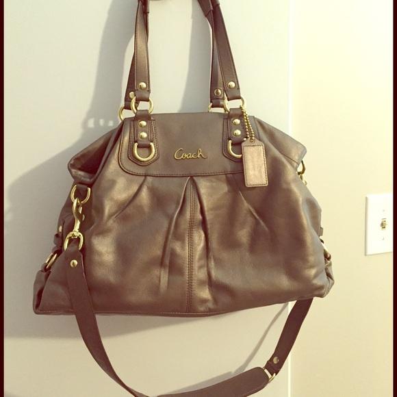 9f8c6d92a6 Coach Handbags - Coach Ashley leather carryall handbag  F15513