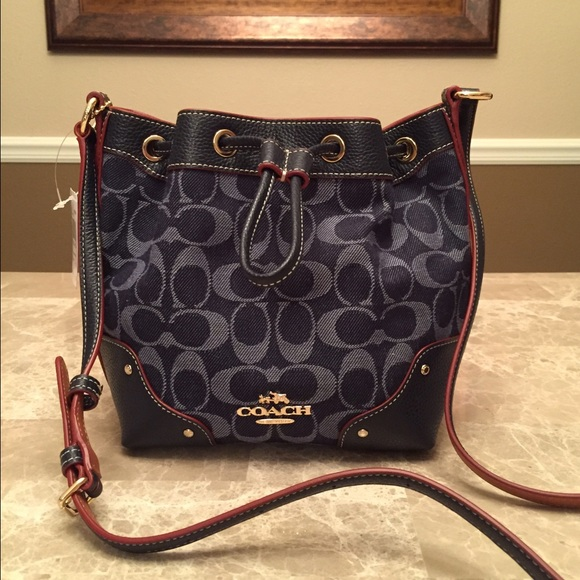 7574399c5e NWT Coach Sig Denim Mickie Crossbody Bag
