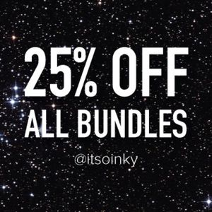 25% OFF ALL BUNDLES!!