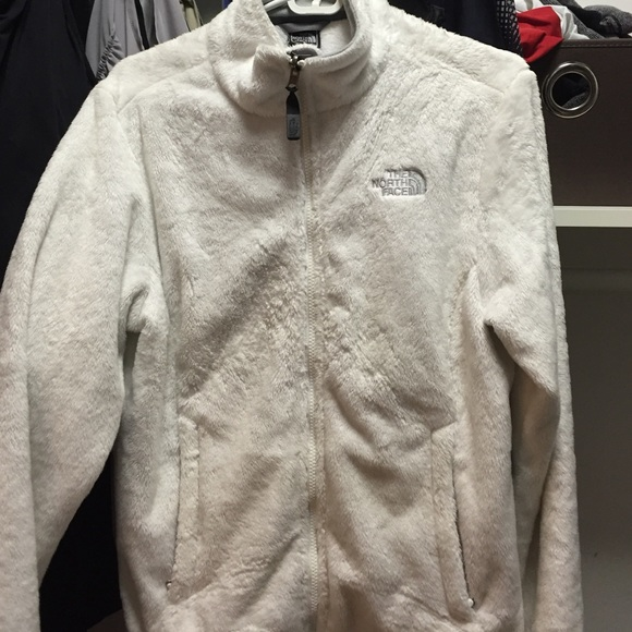 251a1f677 North Face - white furry jacket