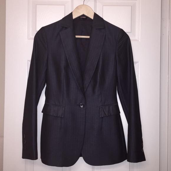Express Jackets & Blazers - Express pinstripe navy blue blazer 💼