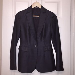 Express pinstripe navy blue blazer 💼