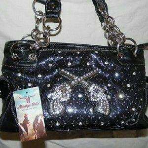 Handbags - Sold Black Western Shoulder Handbag