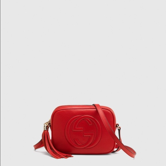 4aea7c150814 Gucci Handbags - Red Gucci Soho disco bag with tassel