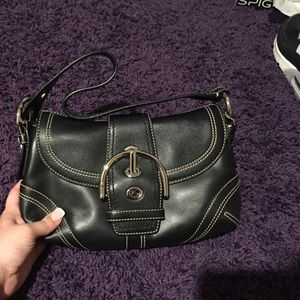 ❤️ Black Leather New With Tags Coach Bag ❤️