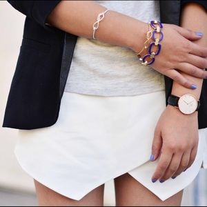 Zara Pants - Zara asymmetrical pointy triangle white shorts