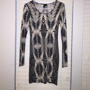 H&M Bodycon Aztec printed dress size 6