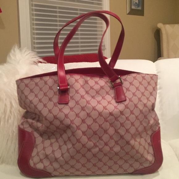 f290ab9858fc Ralph Lauren Travel Bag - Red leather   RL fabric.  M 56f9f29d680278553200b094