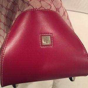 3f2c72eccd56 Ralph Lauren Bags - Ralph Lauren Travel Bag - Red leather   RL fabric