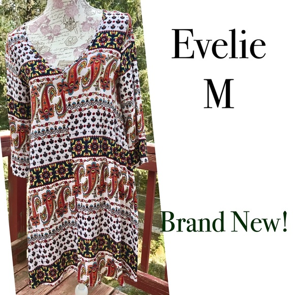 Evelie Dresses & Skirts - FINAL🚫OFFERS NWOT Evelie Paisley Print Dress M