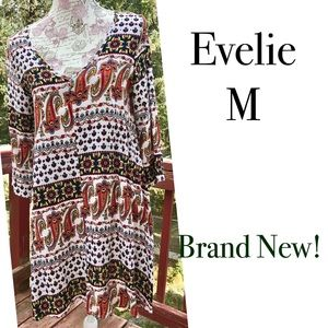 Evelie Dresses & Skirts - ❗️FINAL! NWOT Evelie Boho Casual Printed Dress M